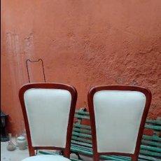 Antigüedades: SILLAS JUEGO DE 6-. Lote 129005299