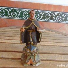 Antigüedades: FIGURA EN BARRO O TERRACOTA DE SAN ANTONIO PARA COMPLETAR Y RESTAURAR MIDE 21.5 CM. Lote 129007467