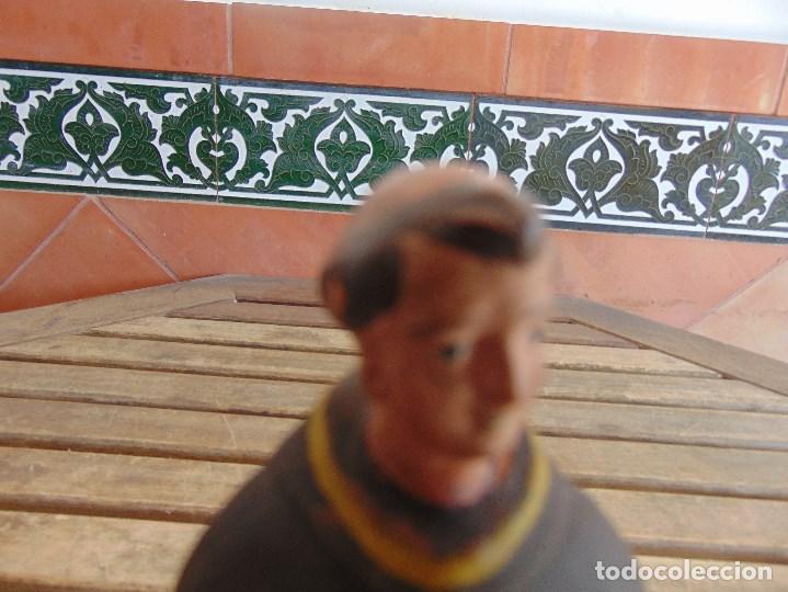Antigüedades: FIGURA EN BARRO O TERRACOTA DE SAN ANTONIO PARA COMPLETAR Y RESTAURAR MIDE 21.5 CM - Foto 2 - 129007467