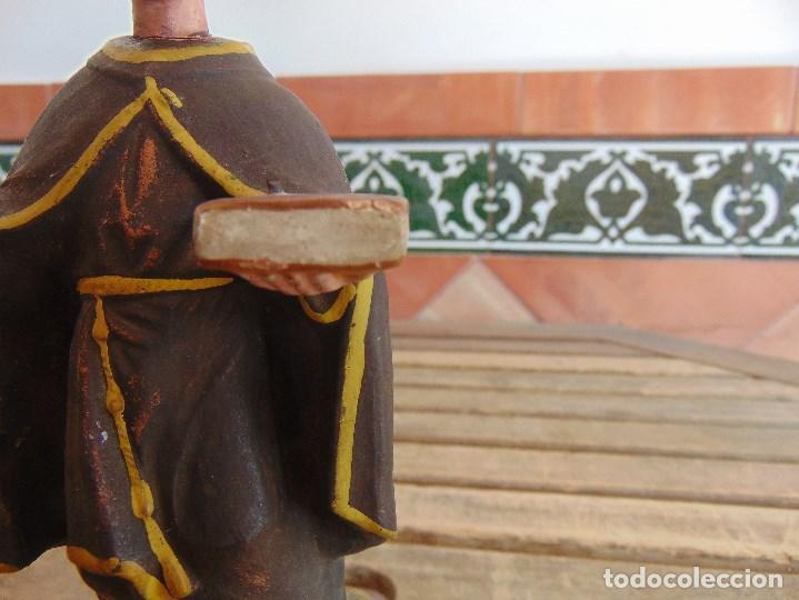 Antigüedades: FIGURA EN BARRO O TERRACOTA DE SAN ANTONIO PARA COMPLETAR Y RESTAURAR MIDE 21.5 CM - Foto 4 - 129007467