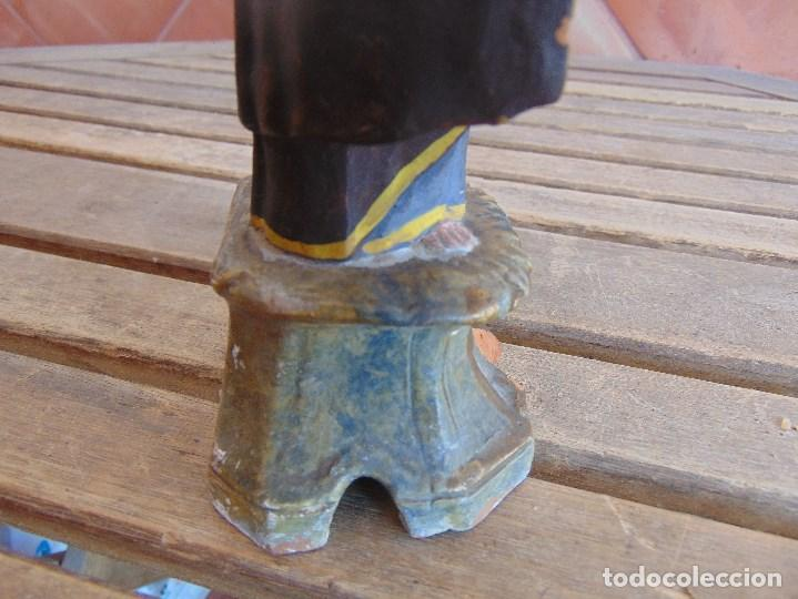 Antigüedades: FIGURA EN BARRO O TERRACOTA DE SAN ANTONIO PARA COMPLETAR Y RESTAURAR MIDE 21.5 CM - Foto 12 - 129007467