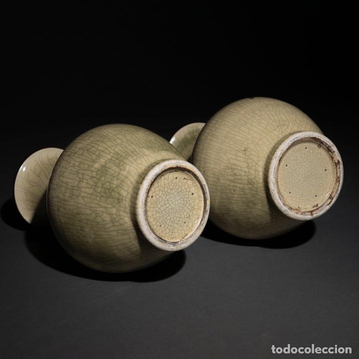 Antigüedades: Pareja jarrones chinos siglo XIX - Foto 4 - 129026379