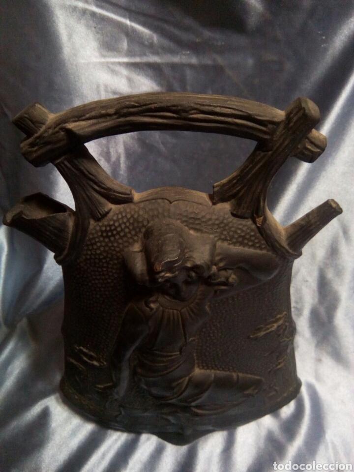 Antigüedades: Botijo de ceramica negra ( Modernista) - Foto 4 - 129040242