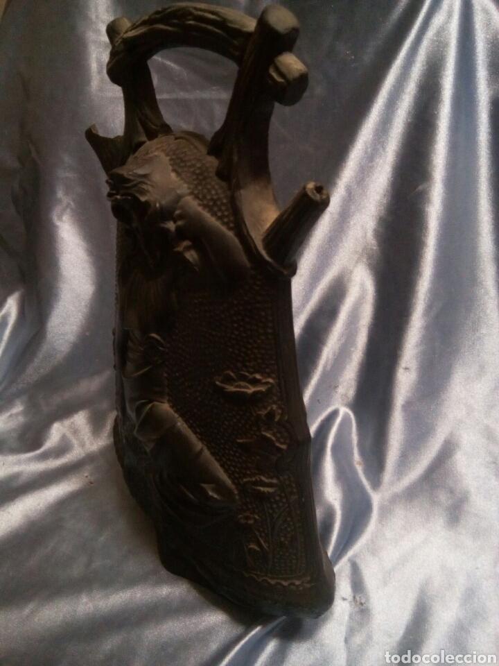 Antigüedades: Botijo de ceramica negra ( Modernista) - Foto 5 - 129040242