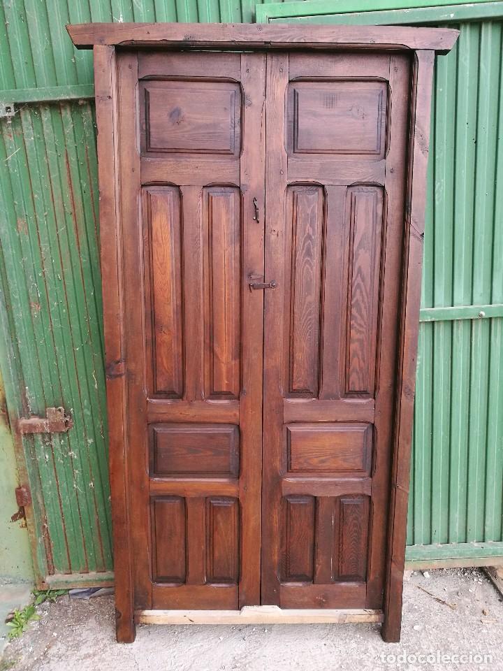 puerta antigua de interior con marco - Comprar Antigüedades Varias ...