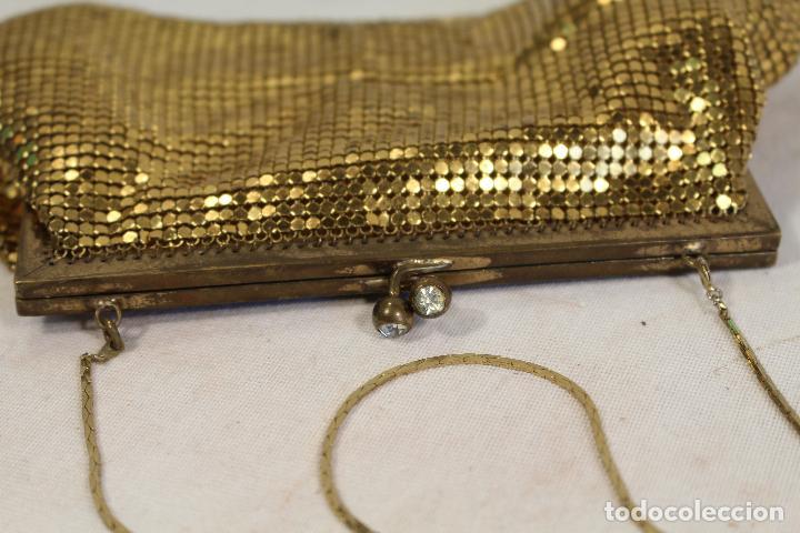 Antigüedades: bolso vintage dorado - Foto 4 - 129047403