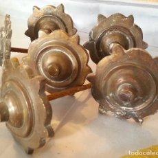 Antigüedades: COLECCIÓN DE ANTIGUOS CLAVOS (6 UNIDADES). EN BRONCE. OLD NAILS.. Lote 129048135
