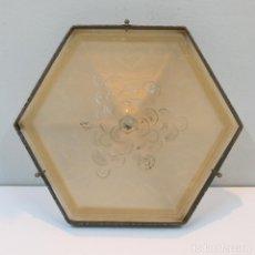 Antigüedades: LÁMPARA PLAFÓN ART DECÓ. MÜLLER FRES LUNEVILLE. FRANCIA.. Lote 129049627