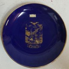 Antigüedades: PLATO PARA COLGAR ORO PRIMERA LEY . Lote 129060503