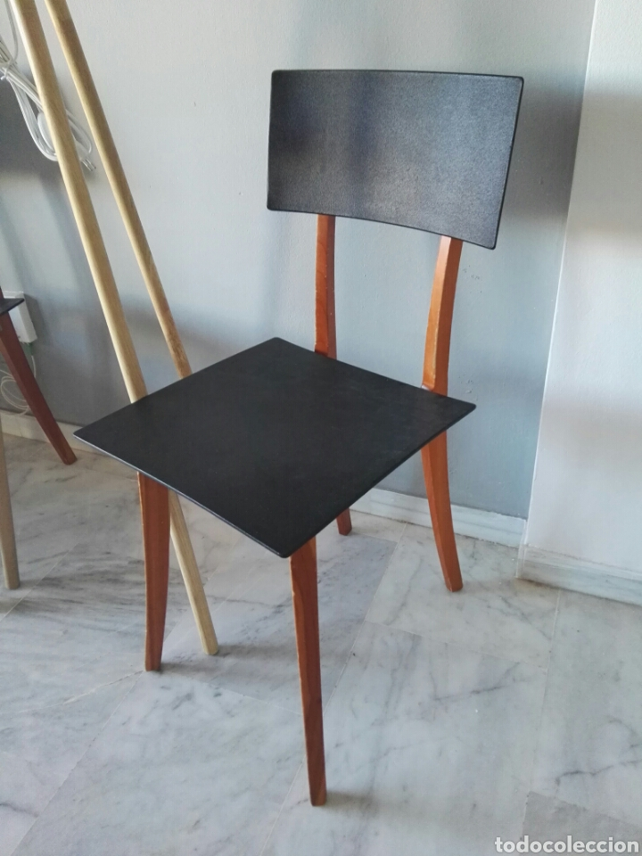 Antigüedades: Silla sillas diseño Zanotta modelo Marina Italy - Foto 2 - 129082180