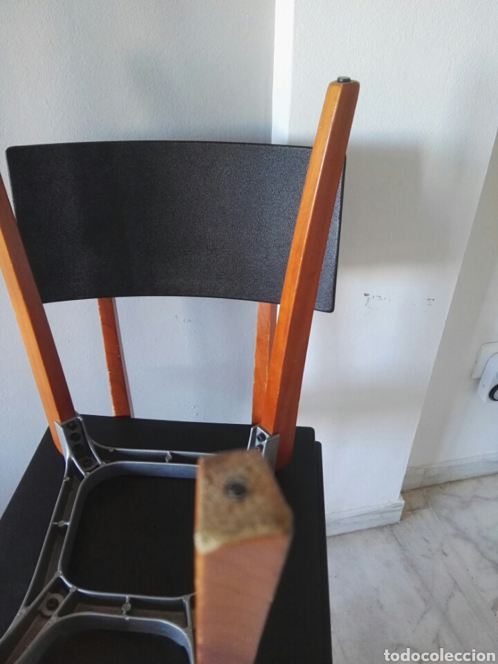 Antigüedades: Silla sillas diseño Zanotta modelo Marina Italy - Foto 11 - 129082180