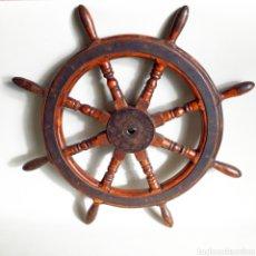 Antigüedades: TIMÓN DE BARCO - MERCANTIC. Lote 129083495