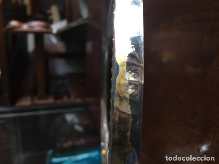 Antigüedades: Portarretrato grande plata de ley punzonada - Foto 4 - 129089287