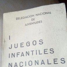 Antigüedades: DELEGACIÓN NACIONAL DE JUVENTUDES 1JUEGOS INFANTILES NACIONALES 1964. Lote 129091063