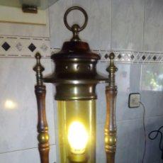 Antigüedades: ANTIGUA LAMPARA O FAROL DE BARCO.50 CM. Lote 129092719