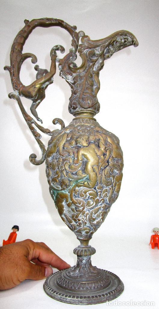 ESPECTACULAR GRAN JARRON BRONCE ANTIGUO RENACENTISTA CIRCA 1820-1860 (Antigüedades - Hogar y Decoración - Jarrones Antiguos)