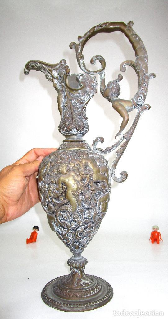 Antigüedades: ESPECTACULAR GRAN JARRON BRONCE ANTIGUO RENACENTISTA CIRCA 1820-1860 - Foto 5 - 129123427