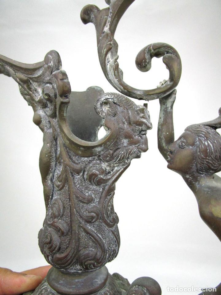 Antigüedades: ESPECTACULAR GRAN JARRON BRONCE ANTIGUO RENACENTISTA CIRCA 1820-1860 - Foto 6 - 129123427