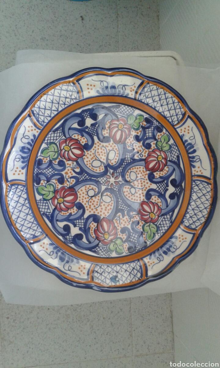 Antigüedades: Plato ceramica 31 cm - Foto 2 - 129168267