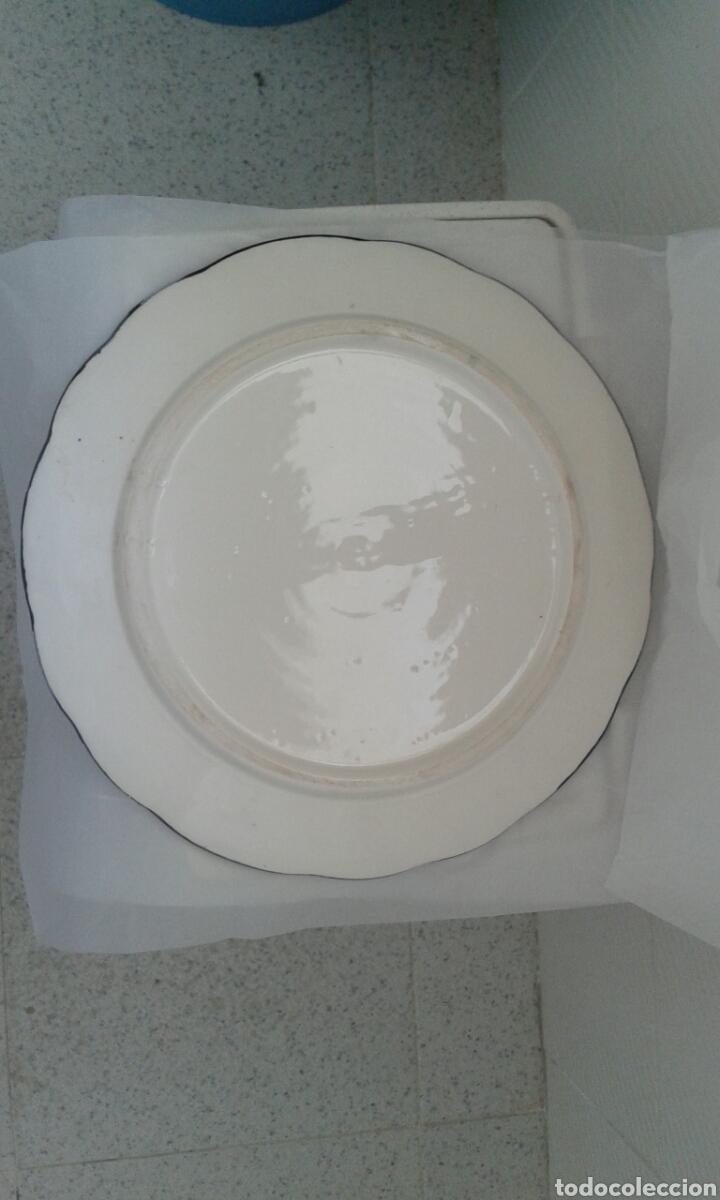 Antigüedades: Plato ceramica 31 cm - Foto 3 - 129168267