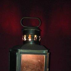 Antigüedades: FAROL QUINQUE SEÑALIZACION TRICOLOR MARMEN. Lote 129172683
