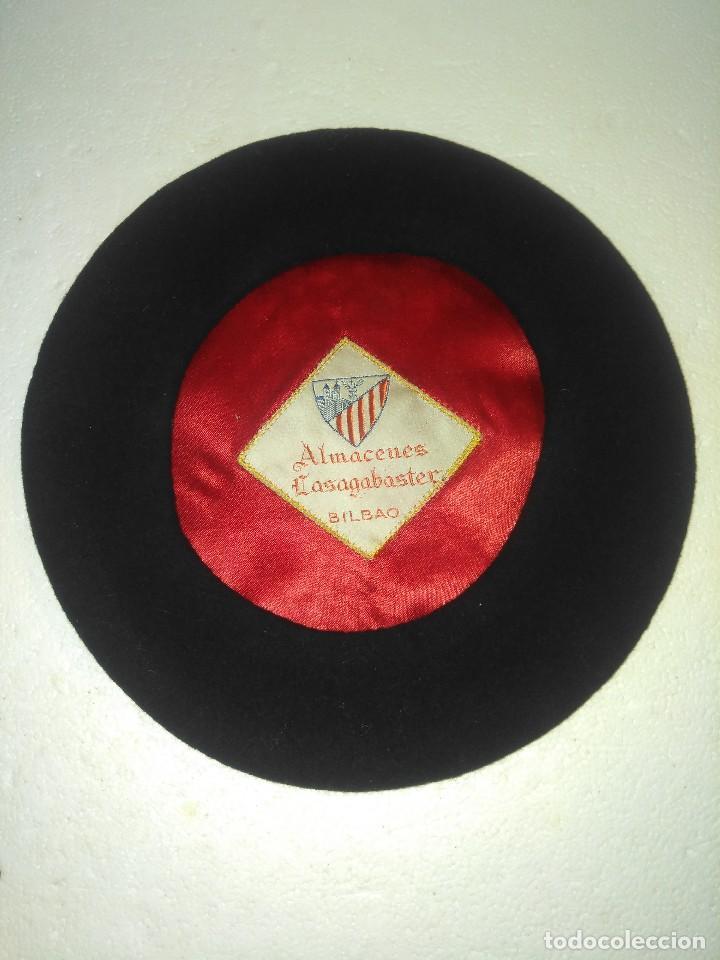 ANTIGUA BOINA TXAPELA ALMACENES LASAGABASTER DE BILBAO (Antigüedades - Moda  - Sombreros Antiguos) d79929f787e