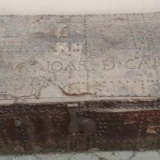 Antigüedades: BAUL O ARCON GRANDE CON PALABRAS EN CASTELLANO ANTIGUO, CAÑIZARES, ARCA COFRE, SIGLO XVII XVIII. Lote 129192079
