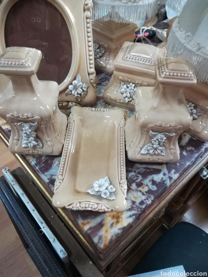 Antigüedades: Vintage juego de tocador 8 piezas - Foto 2 - 129213227