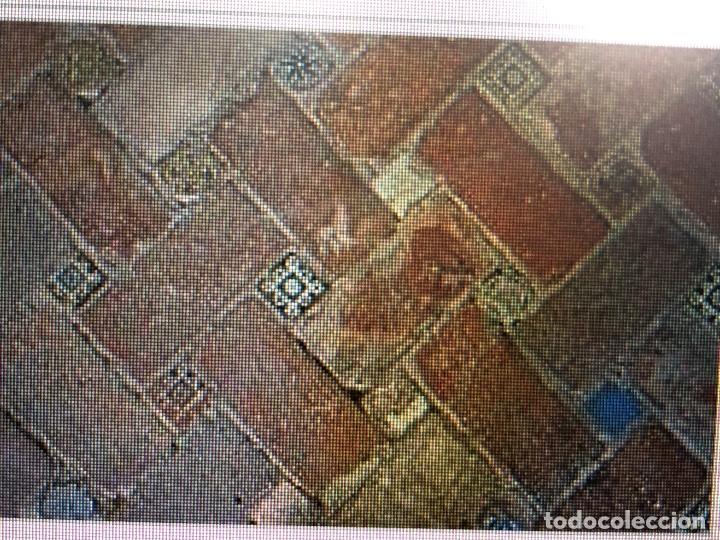 Antigüedades: azulejo olambrilla morisca s XVI granada alhambra azul blanco ave pajaro desgastes 7,5x7,5x2cms - Foto 19 - 129225199