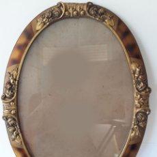 Antigüedades: PRECIOSO MARCO ORIGINAL DE ÉPOCA CON CRISTAL.. Lote 129236938