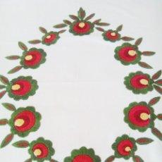 Antigüedades: CORTINA DE GRANDES BORDADOS MODERNISTAS, S XIX. PERFECTO ESTADO. . Lote 129261267
