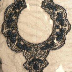 Antigüedades: CUELLO DE AZABACHE PARA APLICACIÓN - S. XIX. Lote 194319040