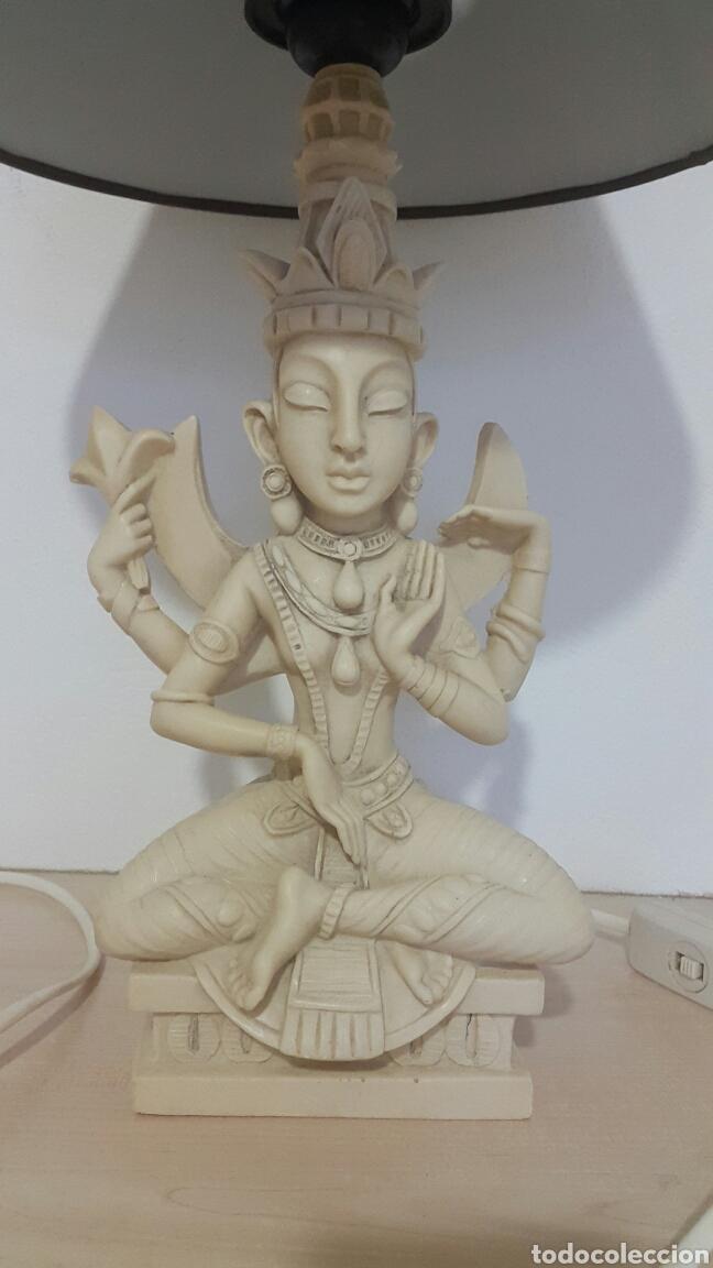 Antigüedades: LAMPARA FIGURA SHIVA IMITACIÓN MARFIL - Foto 2 - 129322494