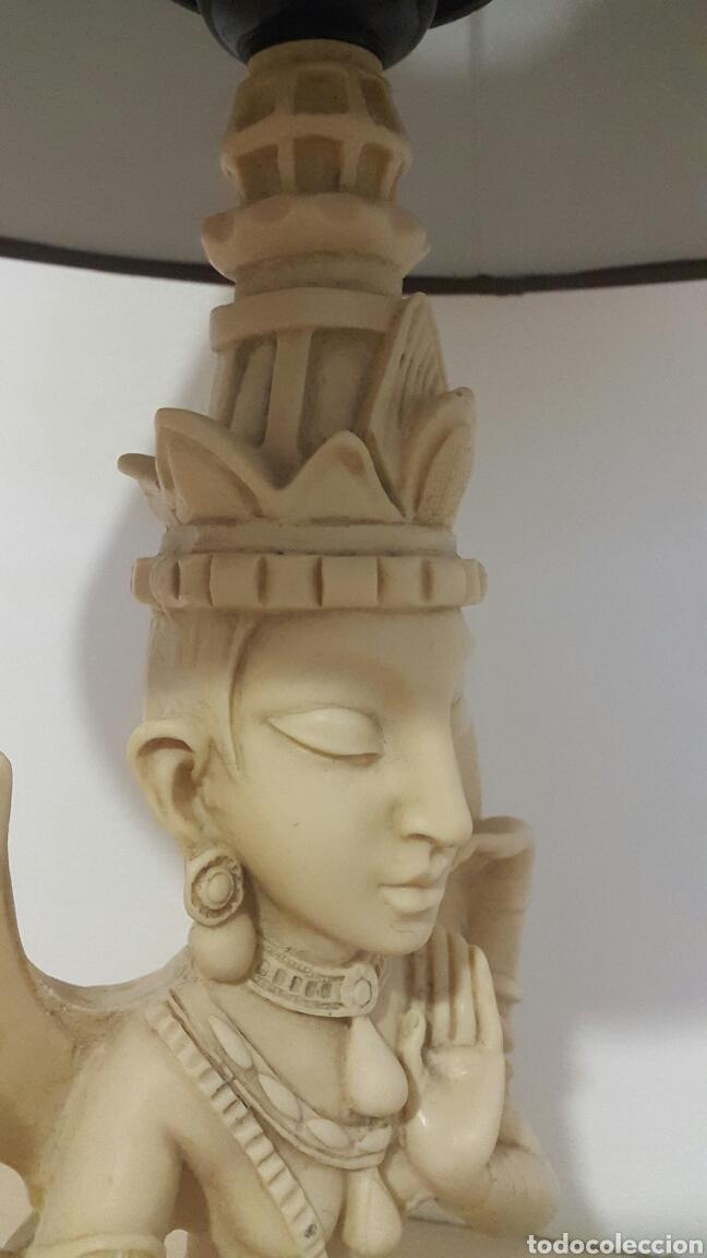 Antigüedades: LAMPARA FIGURA SHIVA IMITACIÓN MARFIL - Foto 3 - 129322494