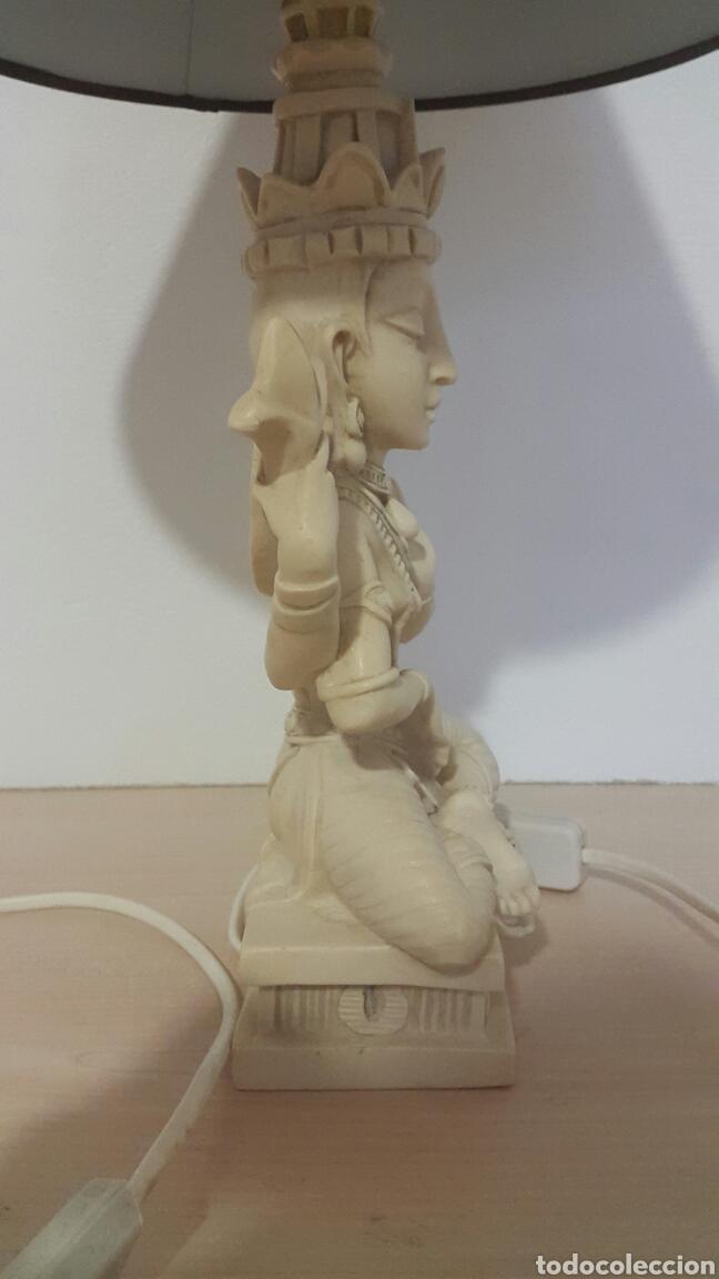 Antigüedades: LAMPARA FIGURA SHIVA IMITACIÓN MARFIL - Foto 4 - 129322494