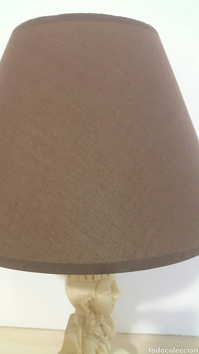 Antigüedades: LAMPARA FIGURA SHIVA IMITACIÓN MARFIL - Foto 5 - 129322494