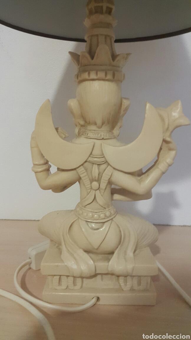 Antigüedades: LAMPARA FIGURA SHIVA IMITACIÓN MARFIL - Foto 7 - 129322494