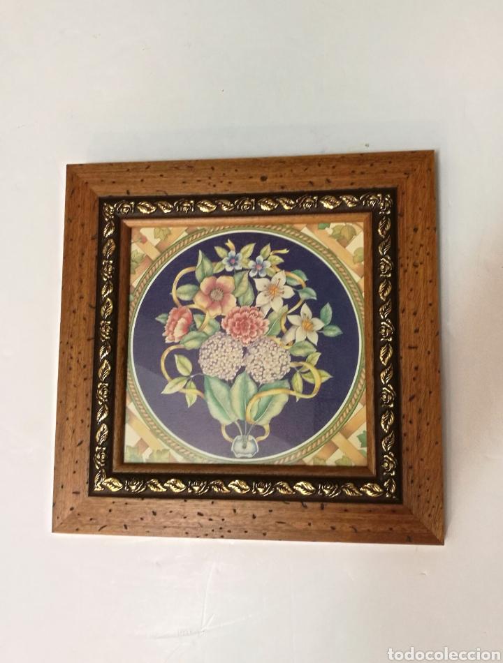 precioso cuadro con marco madera y latón años 6 - Comprar Marcos ...