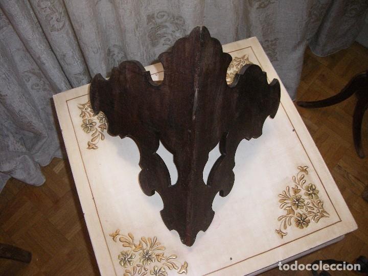 Antigüedades: PEQUEÑA RINCONERA EN CAOBA. ESPAÑA, S.XX. - Foto 6 - 10488836
