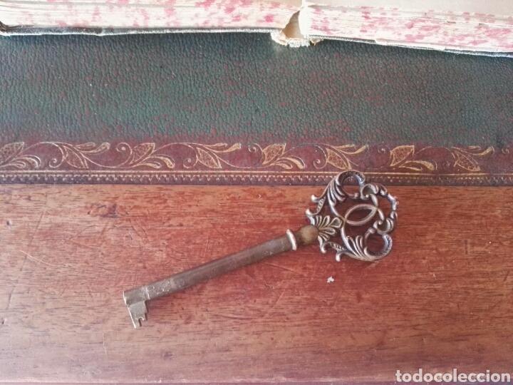 Antigüedades: Escritorio Mesa despacho con silla madera y bronce NO SE ENVIA - Foto 9 - 155259809