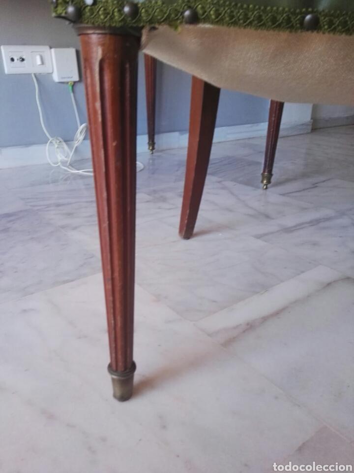 Antigüedades: Escritorio Mesa despacho con silla madera y bronce NO SE ENVIA - Foto 12 - 155259809