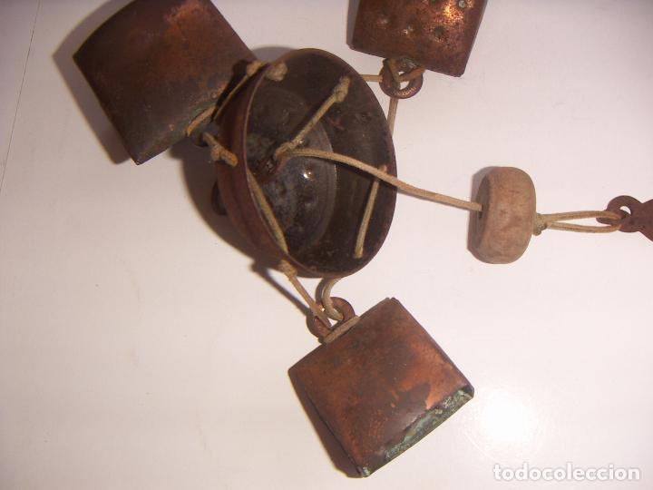 Antigüedades: Viejo llamador de viento con cencerros - Foto 6 - 129374883