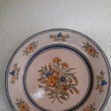 Antigüedades: ANTIGUO PLATO DE CERAMICA DE RUIZ DE LUNA. Lote 129376018