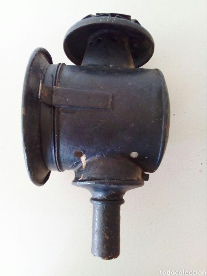 ANTIGUO FARO O FAROL COCHE DE CABALLOS (Antigüedades - Iluminación - Faroles Antiguos)