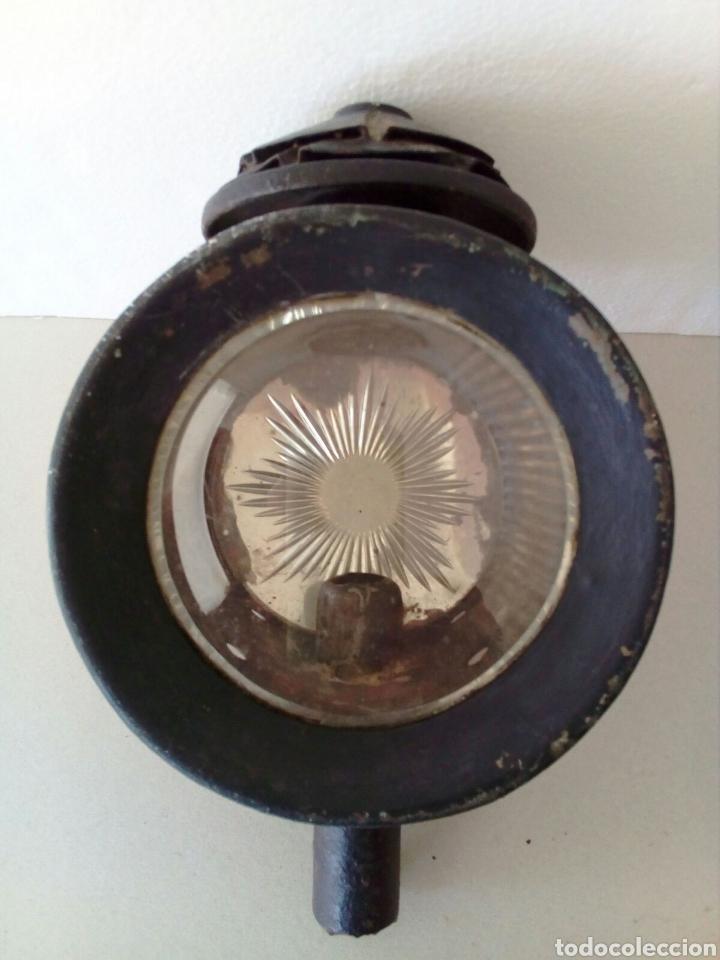 Antigüedades: ANTIGUO FARO O FAROL COCHE DE CABALLOS - Foto 4 - 129376360