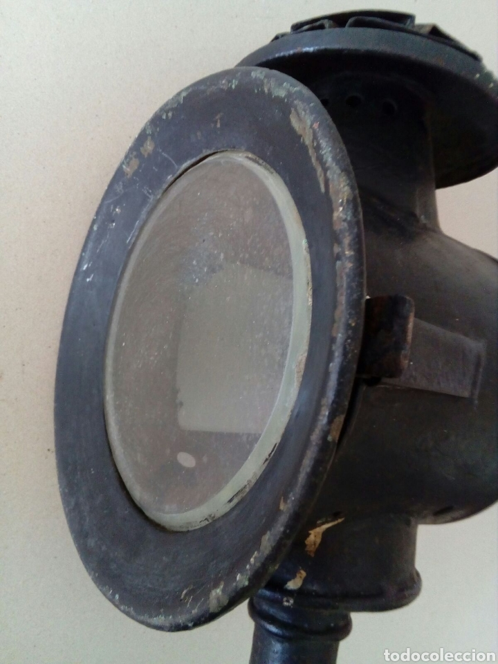 Antigüedades: ANTIGUO FARO O FAROL COCHE DE CABALLOS - Foto 5 - 129376360