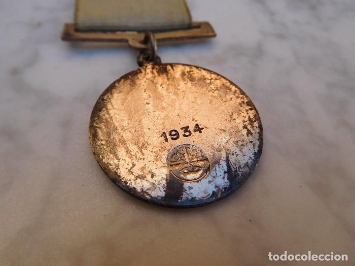 Antigüedades: Medalla irlandesa peregrinaje a Lourdes año 1934 - Foto 4 - 129379035