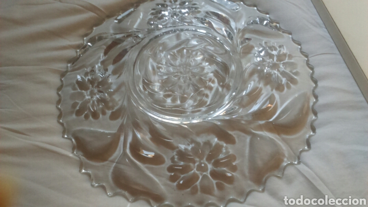 Antigüedades: Centro de mesa o ensaladera en cristal tallado a mano año 1865 aprox - Foto 6 - 129380278