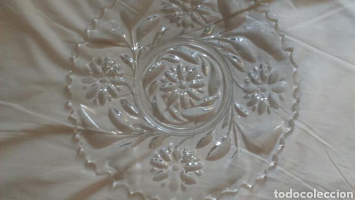Antigüedades: Centro de mesa o ensaladera en cristal tallado a mano año 1865 aprox - Foto 7 - 129380278