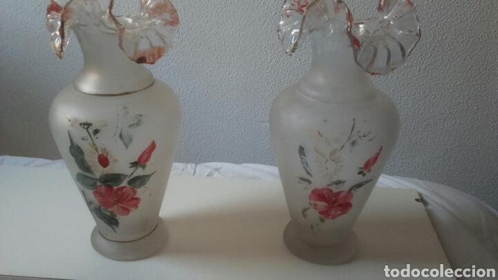 PAREJA DE JARRONES (Antigüedades - Cristal y Vidrio - Mallorquín)